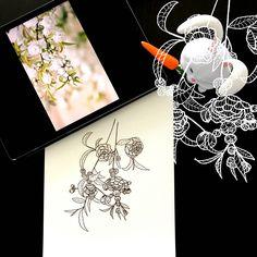 Day 20 #30ideas30days #illustration #flowers #blackandwhite #drawing #patternly.design #30ideias30dias #ilustração #flores #pretoebranco #desenhoobservacao #decolalab2016 #oficinaamandamol