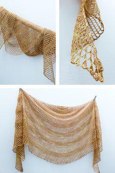 Ravelry: Paddington's Garden shawl with lace weight Handu Glitter - knitting pattern by Janina Kallio.