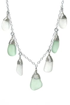 Sea Stone 7 Piece Sea Glass Necklace - Sea Spray – Fishers Finery