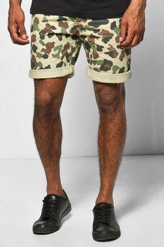 boohoo Camo Print Chino Shorts