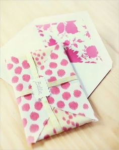 fabulous fabric envelopes! Read about it