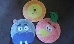 """Literacy extension to """"Owl Moon"""" by Jane Yolen and for animals, """" The Carnival of the Animals (Book and. Child Care Resources, Paper Plate Animals, Carnival Of The Animals, Animal Heads, Zoo Animals, Art Activities, Pre School, Paper Plates, Childcare"""