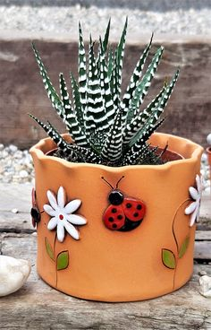 Ceramic Wall Planters, Small Plants, Air Plants, Vase Crafts, Painted Flower Pots, Hand Built Pottery, Miniature Fairy Gardens, Paint Designs, Hobbies And Crafts