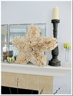 Fluffy star with coffee filters
