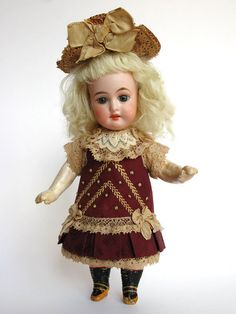 Tiny Dress for Antique French or German Doll
