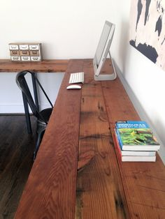 The Sawyer L-Shaped Desk Reclaimed Wood & Steel by arcandtimber