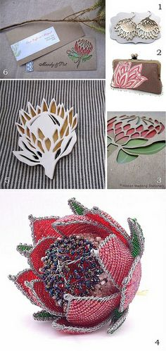 Sharing some protea wedding decor inspiration with images by Garick van Staden and prodycts from Hello Pretty on-line. Protea Art, Protea Flower, Flowers, Easy Diy Crafts, Diy Craft Projects, Flower Crafts, Flower Art, Bead Crafts, Arts And Crafts