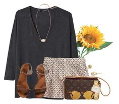 """""""~always take the scenic route~"""" by flroasburn ❤ liked on Polyvore featuring MANGO, J.Crew, Emporio Armani, Louis Vuitton, Kate Spade, Ray-Ban, Tory Burch and Kendra Scott"""