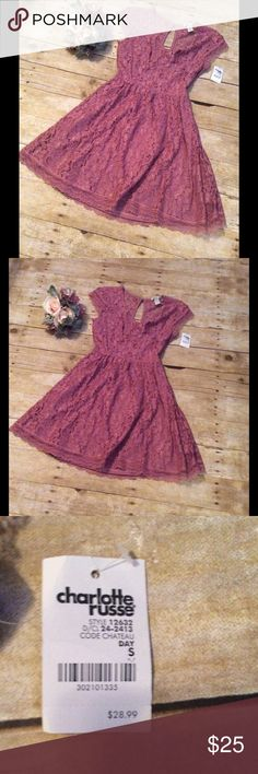 chateau dress 🎈 Beautiful, cut out flare dress! In a purple/pink color! Tag still on! Charlotte Russe Dresses Mini
