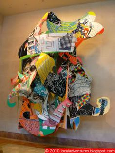 Frank Stella- random design/experiments with media. Keep as the year progress and then in spring- cut up for Stella. Abstract Sculpture, Sculpture Art, Frank Stella Art, Post Painterly Abstraction, Instalation Art, Painting Collage, Paintings, Collaborative Art Projects, 5th Grade Art