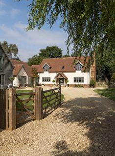 House Extension Design, House Design, Border Oak, House Front, My House, Rendered Houses, Oak Frame House, English House, House Goals