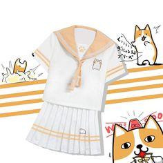 [Reservation] Corgi Sailor Uniform Shirt/Skirt SP1710012