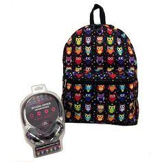 Owl Backpack & Headphones Set - Kids