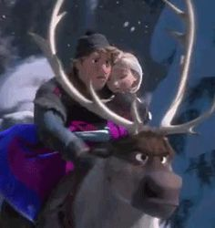 Kristoff and Anna - Frozen - Love this scene!