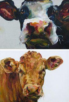 love the cow art.