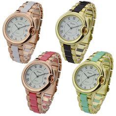 Fashion Geneva logo watch famous brand hand watch woman with high quality Japanese quartz movement