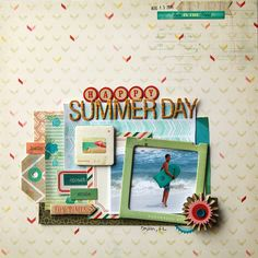 Using masks and The Pier collection by Crate Paper on scrapbook layouts. Design by Deb Duty