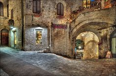 Medieval Houses in Assisi, Umbria.
