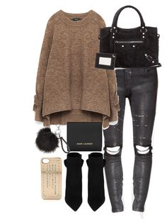 Untitled #2518 by theeuropeancloset on Polyvore featuring polyvore, moda, style, Yves Saint Laurent, Balenciaga, Marc by Marc Jacobs, fashion and clothing