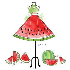 2015, art, beautiful, color, drawing, dress, fall, fashion, fashion illustration, funny, girl, green, illustration, illustrator, love, love quotes, nails, photography, quotes, red, september, spring, summer, watermelon, winter, yesterday, fruit dress