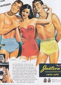 Jantzen Swimsuits Ad by Pete Hawley, 1949