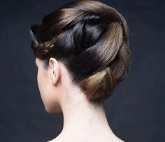 Bun Updo, Sleek Hairstyles, Band Aid, Hair Band, Updos, Salons, That Look, Stylists, Photoshoot