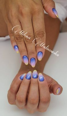 by Indigo Educator Warsaw Milena Malinowska! Follow us on Pinterest. Find more inspiration at www.indigo-nails.com #nailart #nails #indigo #summer #ombre #pink #violet