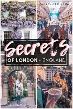 Ultimate London Bucket List: 75 Must See London Attractions Secrets of London: Unique, Historical & Unusual Things to do in London, capital of England. Where you should stay, what you need to visit and best attractions in London! Places To Travel, Travel Destinations, Places To Visit, Covent Garden, London Bucket List, Secrets Of London, London Guide, City Of London, London Food