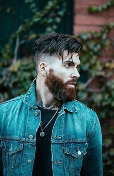 Whether you're looking to sport some light stubble or grow out a long, manly mane and beard, let us help you find the perfect fit. Check out the 12 best beard styles of the year! Trending Beard Styles, Beard Styles For Men, Hair And Beard Styles, Long Hair Styles, Mens Hairstyles With Beard, Haircuts For Men, Cool Hairstyles, Haircut Men, Viking Haircut