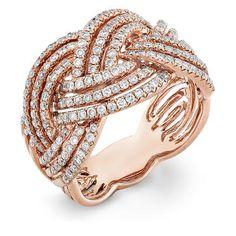 rose gold pave diamond ring <3