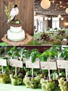 #wedding - Favors - Basil Table Cards