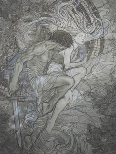 HADES & PERSEPHONE The mating of Hades And Persephone is such a primal story, filled with conquest, hunger, desperation, and love … .......just in my feeling ;) ....... Rebecca Guay - Gwenevere