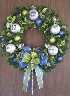 Check out this item in my Etsy shop https://www.etsy.com/listing/211065973/seattle-seahawks-christmas-wreath