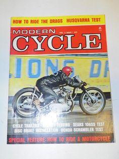 "VTG ""MODERN CYCLE"" (JAN 1966) CHOPPER MOTORCYCLE MAGAZINE w/ CAPT KIRK: BIKE HOG"