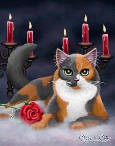 Phantom of the Opera Cat 11x14 Poster