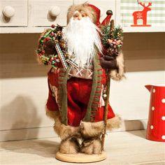 Santa Claus con corona de Gisela Graham en ww.achica.es
