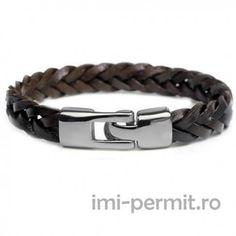Bratara piele model 17 Gents Bracelet, Bracelet Clasps, Bangle Bracelets, Bangles, Leather Bracelets, Bracelets With Meaning, Braided Leather, Leather Cuffs, Fashion Jewelry