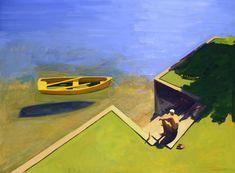 Kurt Solmssen. boat oil painting