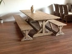 Reclaimed Pine Barn conversion style Cross beam Dining Table.   http://www.sustainable-furniture.co.uk/dining-room-furniture/reclaimed-dining-tables/2-4m-reclaimed-pine-cross-dining-table/prod_1462.html