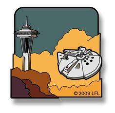 Millennium Falcon Space Needle Pin