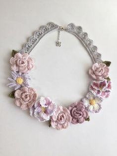 Crocheted necklace.