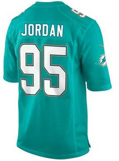 The men's Nike NFL Game jersey will be the only one you choose to wear while you cheer on your Miami Dolphins. The jersey is inspired by what Dion Jordan wears on the field and designed for movement and a light soft feel. V-neckline with TPU shield at collar Pullover style Short sleeves Screen print graphics Woven jock tag at hem Tailored fit Officially licensed NFL product Nike on-field apparel Polyester Machine washable
