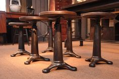 These singer stools are so cool. And pricey.