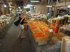 Streets of Bangkok. Spice market. Bangkok, Thailand