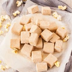 Butter Popcorn Easy Fudge has all the flavour of butter popcorn and fudge in one and not a piece of popcorn in sight. This is an easy fudge recipe with a fun flavour. via Sugar Salt Magic Fudge Recipes, Candy Recipes, Sweet Recipes, Baking Recipes, Holiday Recipes, Dessert Recipes, Desserts, Christmas Recipes, Gourmet Recipes