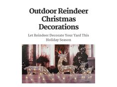 Outdoor Reindeer Christmas Decorations Outdoor Reindeer Christmas Decorations, Yard, Holiday, Patio, Vacations, Holidays, Courtyards, Garden, Vacation