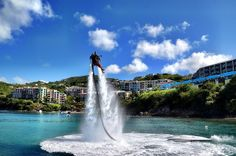 """Now this is an adventure! From Matt Long: """"One of my favorite adventure travel experiences is found on St. Join the folks at St. Thomas Jetriders for the day as they teach you to fly like James Bond in your own water jet pack. Vacation Places, Vacation Destinations, Dream Vacations, Vacation Trips, Vacation Spots, Tropical Vacations, Island Pictures, Southern Caribbean, St Thomas"""
