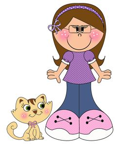 quenalbertini: Girl with Glasses Cute Cartoon Girl, Cartoon Pics, Kids Scrapbook, Scrapbooking Layouts, Pictures To Draw, Cute Pictures, Meninos Country, School Coloring Pages, School Murals