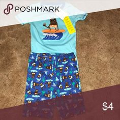 Boys pj short set Brand new with tags super cute pjs. Don't fit my son Gymboree Pajamas