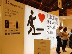 Very clever idea about calorie burn tracking at work, at #100design
